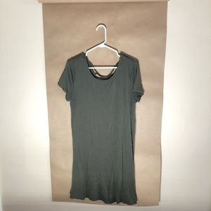 Mossimo army green t shirt dress